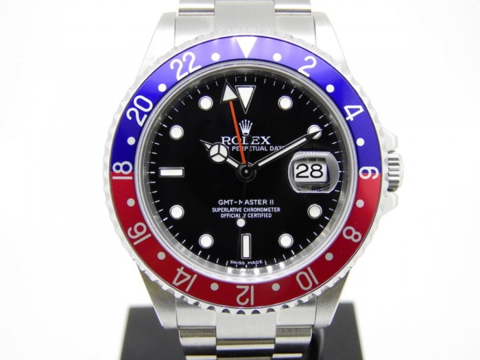 Rolex 16710T GMT Pepsi 'stick dial'