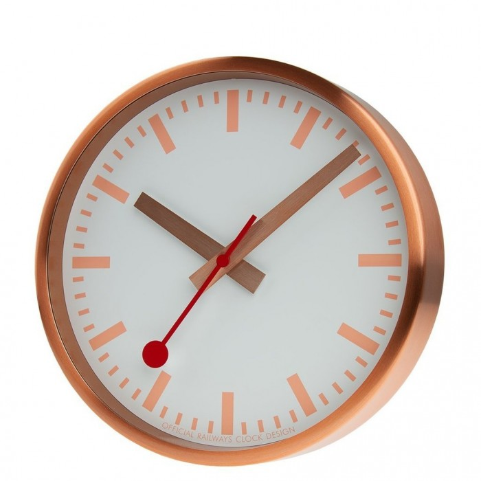 A990.CLOCK.17SBK MONDAINE brushed copper wall clock 25mmm