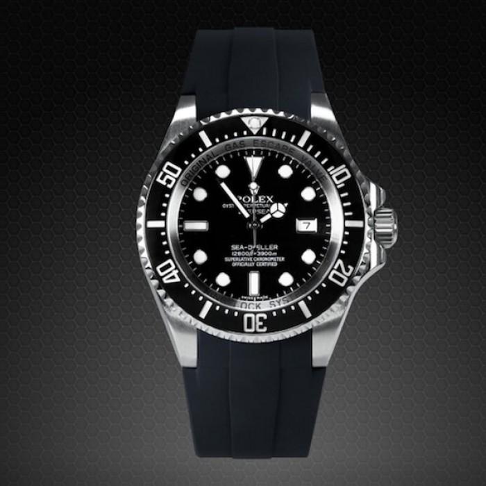 Rubber B 116660 Deepsea Sea-Dweller M108-BK-L Large