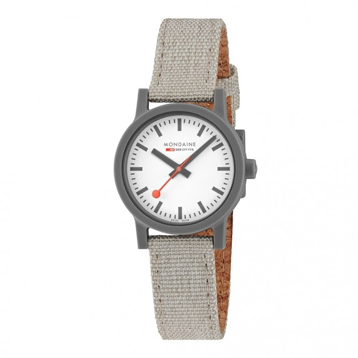 MS1.32111.LH MONDAINE ESSENCE Ladies white dial on grey Textile