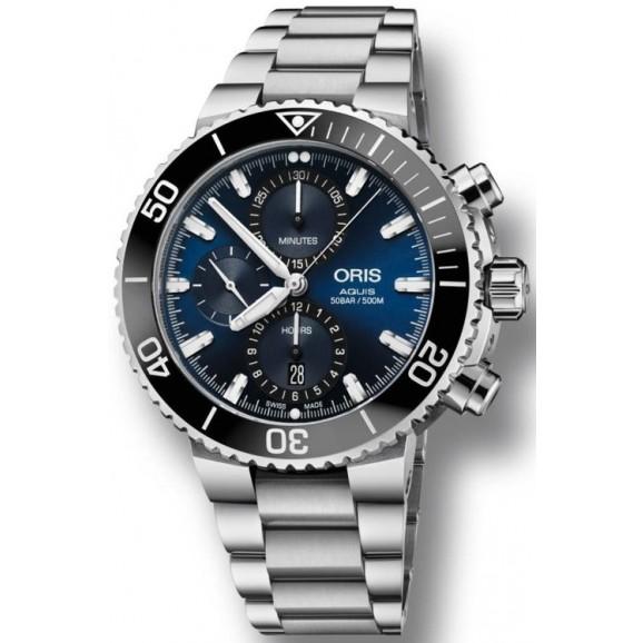 Oris Aquis Chronograph Blue Dial