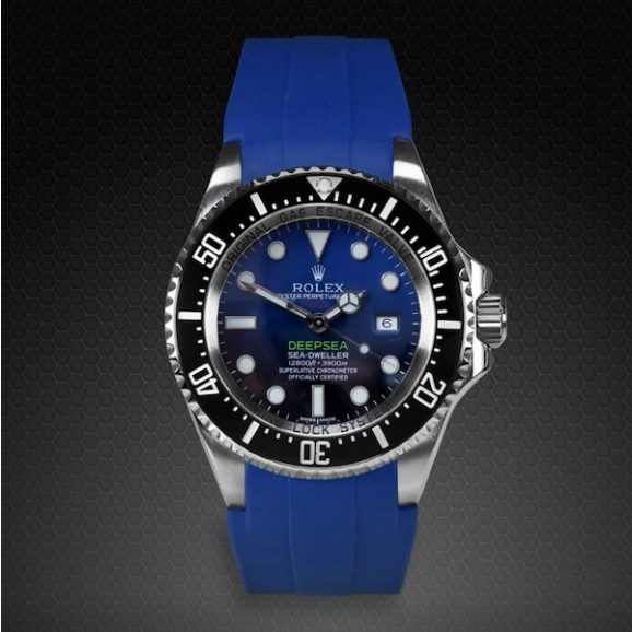 Rubber B DEEPSEA Flared Tang Buckle Blue M107-BL