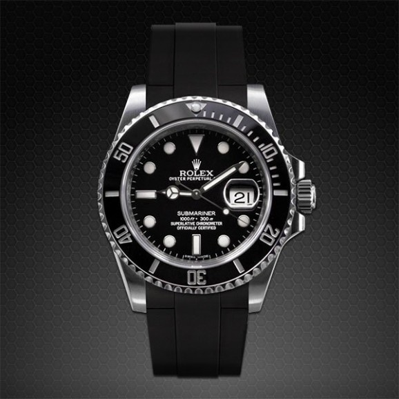 Rubber B Rolex Ceramic Submariner Glidelock M104-BK