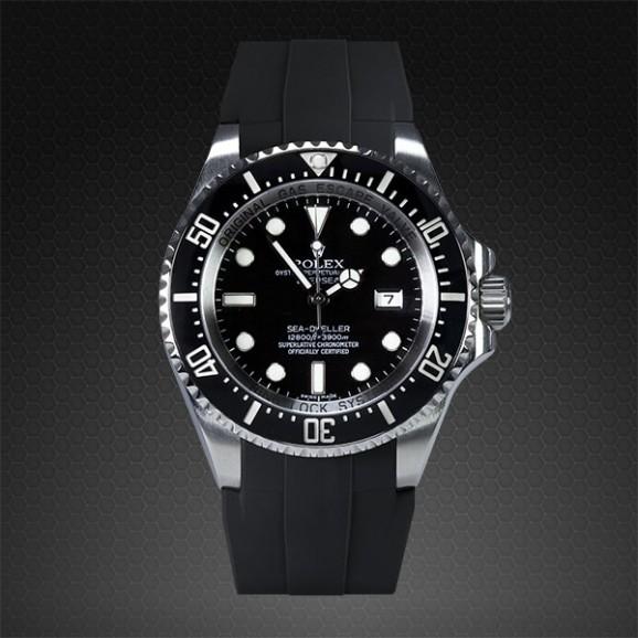 Rubber B 116660 Deepsea Sea-Dweller M108-BK-M Medium