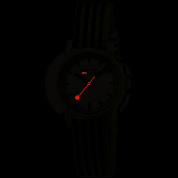 MS1.32110.LA Mondaine Essence 32mm black and white sustainable watch